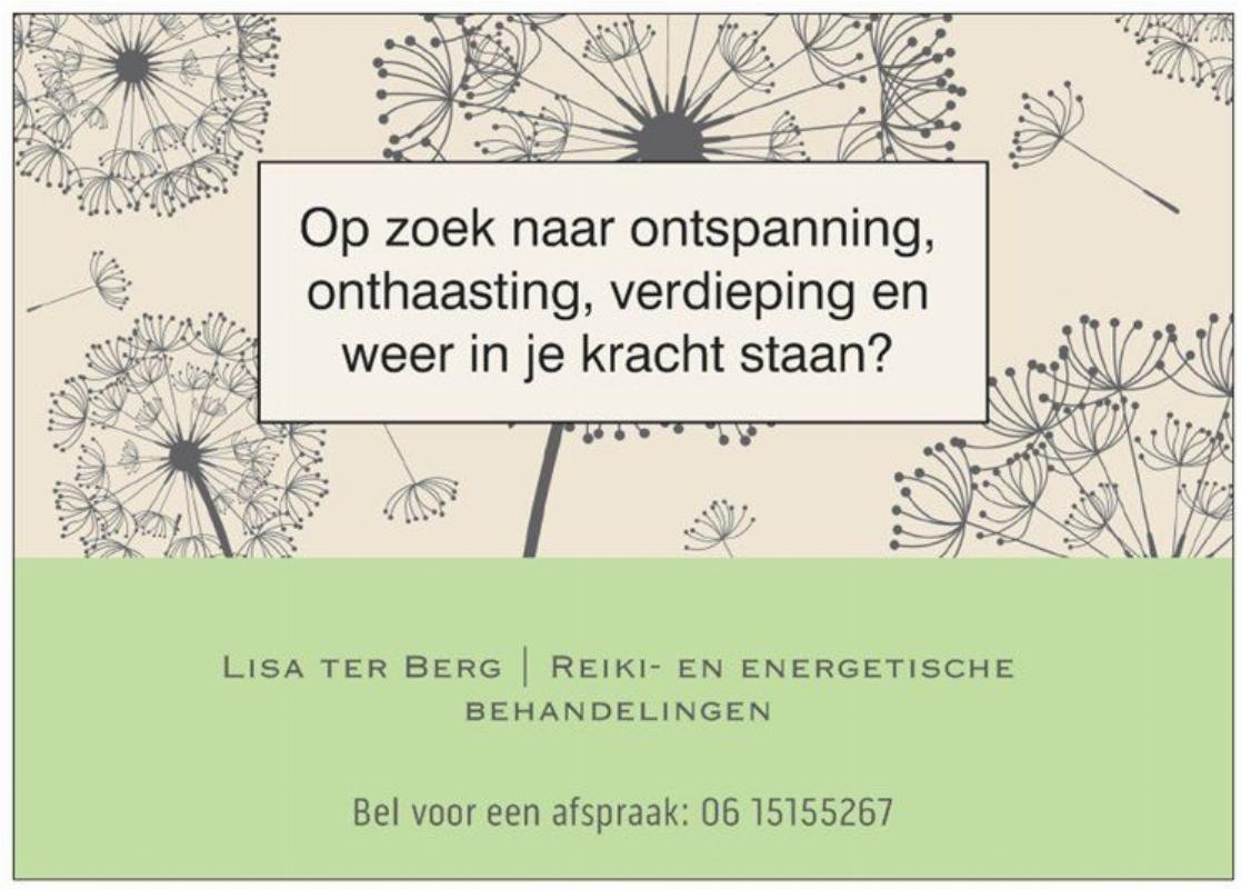 Lisa ter Berg | Persoonlijke coaching en energetische behandelingen